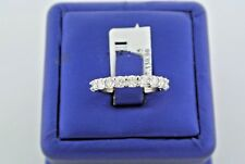 14k White Gold 1.45 CT Diamond Shared Prong Ladies Band, 2.6gm, Size 7, S13757