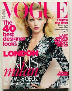 Vogue UK British magazine august 2009 Sasha Pivovarova Patrick Demarchelier