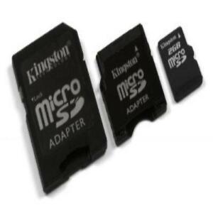 Kingston 2 GB microSD Flash Memory Card w/ SD miniSD Adapters (SDC/2GB-2ADP)