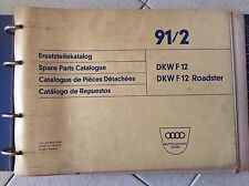 DKW Auto-Union F12 / F12 Rodaster 1963 1964 1965 Spare Parts Catalogue