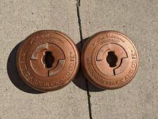 8.8lb / 4Kg set - Pair 4.4lb / 2 Kilo Weight Plates Sears Copper Vinyl Vintage