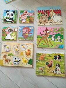 Wooden puzzle bundle 0-3 Years