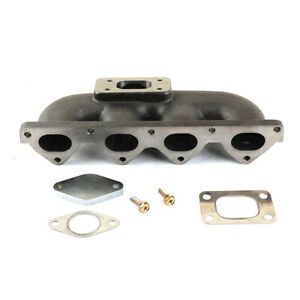 T25 Exhaust Manifold w/ Wastegate Hole Fits HONDA Civic D15 D16 Keep AC & PS