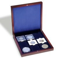Wood Coin Display Box 2x2 Flips Collector Wood Case 1 OZ Silver Gift Collection