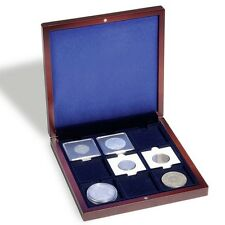 Coin Box for 9 2x2 Cardboard Holders / QUADRUM Square Mahogany Display Case US