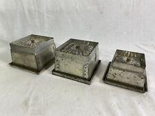 3 anciens moules à glace patisserie  fer blanc antique ice mold