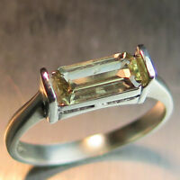 Natural Colour Change Diaspore 925 silver /9ct 14k 18k Gold east west ring