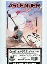 Ascender #1 Image Comics Signed and COA Jeff LeMire and Dustin Nguyen