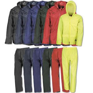 Regenanzug Regenhose Regenjacke Result Wind/ Waterproof Jacket and Trouser Set