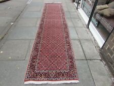 Fine Vintage Traditional Hand Made Oriental Red Pink Wool Long Runner 392x88cm