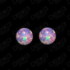 925 Sterling Silver Opal Ball Stud Earrings Mini Studs Girls Women Children
