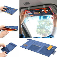 Auto Car Sun Visor Shield Board Organizer Storage Holder Phone Bag CD Case Blue