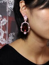 Boucles d`Oreilles Clous Art Deco Goutte Rose Rouge Bordeaux Mariage Cadeau XX 4