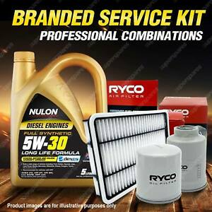 Oil Air Fuel Filter 5L SYND5W30 Oil Service Kit for Peugeot 308 T7 HDI 2L 09-12
