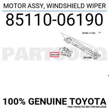 8511006190 Genuine Toyota MOTOR ASSY, WINDSHIELD WIPER 85110-06190