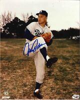 Johnny Podres  Autographed 8 x 10 Photo w COA in a Dodgers Uniform
