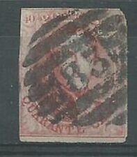 Belgium 1861 40c red SG15 imperf fair used. Scarce. (2028)