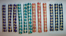 12 Bamboo Shredder Chinese Finger Traps Kids Party Favors Parrot Bird Toy Parts