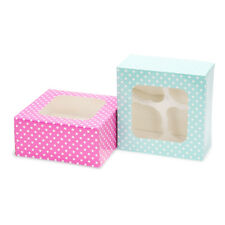 Backen - Cupcake Box - Transportbox - 2 Boxen für 4 je Cupcakes 02133