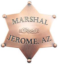 Obsolete Old West US Marshall Badge Jerome Arizona