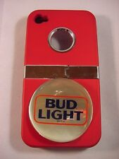 BUD LIGHT BEER 4G/4S IPHONE 4 RED HARD COVER CASE / STANDS NIB