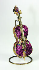 JAY STRONGWATER MUSICAL CELLO ORNAMENT WITH STAND SWAROVSKI NEW BOX SUPER RARE !