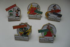 Euro Disney Esso pins set Mickey Minnie Donald Goofy Peter Pan