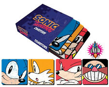 Officiel sonic the hedgehog sega coasters lot de 4 étui de présentation