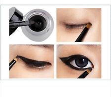 One Set Women Waterproof Eye Liner Eyeliner Gel Makeup Cosmetic + Brush Black