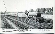 Pamlin M3519 repro photo postcard LNER Pacific 4475 FLYING FOX Stevenage 1933