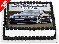 Mercedes Benz Sports Edible Icing Cake Image Personalised A4 Party Topper
