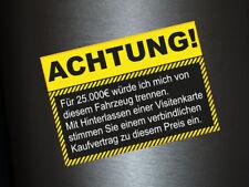 1 x Aufkleber Auto Nix Export Fun Autoaufkleber Shocker Auto Tuning Schwarz Gelb