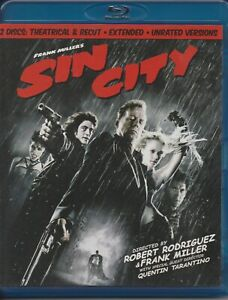 SIN CITY BLU RAY 2 DISCS THEATRICAL AND RECUT UNRATED VERSION REGION B LIKE NEW