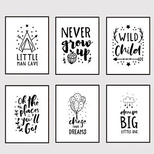 Boy's Girl's Bedroom Nursery Wall Word Art Picture Print Inspirational Quote