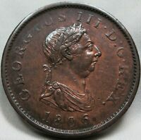 GREAT BRITAIN UK England Penny 1806 XF Luster Britannia George III. #A50