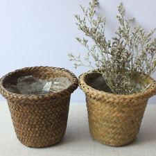 New ListingHandmade Bamboo Storage Baskets Laundry Straw Patchwork Wicker Rattan Seagra Ae