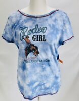 Outback Trading Company. Rodeo Girl Tie-dye Blue Womens Large NWT
