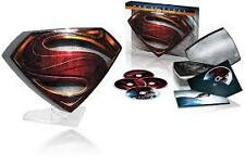 SUPERMAN:Man Of Steel 3D (Blu Ray, DVD+Ult) Embossed Metal Case & Display Stand