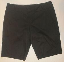 Women's Daisy Fuentes Black Favorite Fit Bermuda Chino Shorts Sizes 6, 8, 14