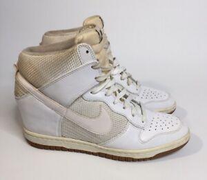 Nike Dunk Sky Hi Hidden Wedge Heel 579763-100 High Womens Size US 11 Discolored