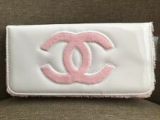 Chanel VIP Gift Bag Terry Cloth Pink & Glossy White 1705155 Authentic Brand new