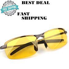 Night Vision Glasses Anti Glare UV400 Eyes Protection Metal Frame Heavy Duty HD