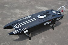 DT E32 Germany Cat Fiber Glass Electric RC PNP Race Speed Boat W/ 120A ESC Black