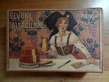 Ancienne boîte publicitaire carton présentoir PLV Levure Alsacienne ALSA Nancy