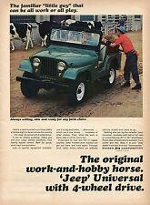 1965 Print Ad of Kaiser Jeep Universal Cattle Farm