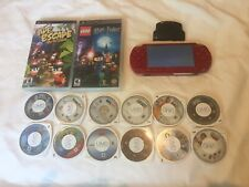 Limited Edition Red God of War Sony PlayStation Portable PSP 2001 with 14 Games