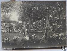 photo ancienne . régiment . soldats . bivouac . camp