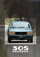 Peugeot 305 Prospekt 1980 20 S. brochure Autoprospekt prospectus prospecto Auto