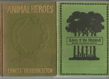 ANIMAL HEROES 1906 + Lives of the Hunted by ERNEST THOMPSON SETON 1901 2 BOOKS
