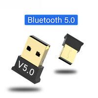 Mini USB Bluetooth V5.0 Wireless Dongle Adapter For Windows 7/8/10 PC Laptop